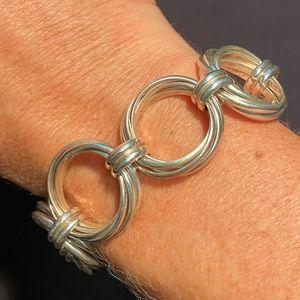 Silpada Multi Ring Circle Bracelet
